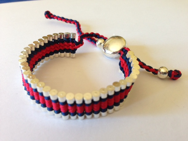 Friendship Bracelet Blue & Red Colour